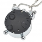 Stylish Stainless Steel Pocket Quartz Watch with Keychain - Silver + Black (1 x LR44)