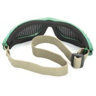 Outdoor Safety Eye Protection Metal Mesh Shield Goggle - Black + Green