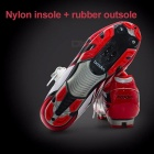 BOODUN Road Racing TPU Soles Mountain Bike Shoes Men Bicycle Cycling Sport Breathable Red/10.5