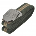 Tactical Durable Canvas Gürtel mit Alloy Buckle - Schnalle Pattern Assorted (Army Green/110CM-Length)