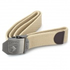 Tactical Durable Canvas Belt with Alloy Buckle - Buckle Pattern Assorted (Yellow/110CM-Length)