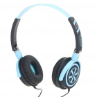 Trendy Headphones Headset Earphones - Black + Blue (3.5mm Jack/1.4m Cable)