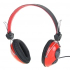 Stylish On-Ear Stereo Headset with Microphone and Volume Control - Red (3.5mm Jack/2.0M-Cable)