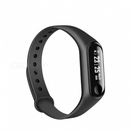 M3 Bluetooth V4.0 Smart Bracelet with Heart Rate Monitor, Fitness Tracker - Black