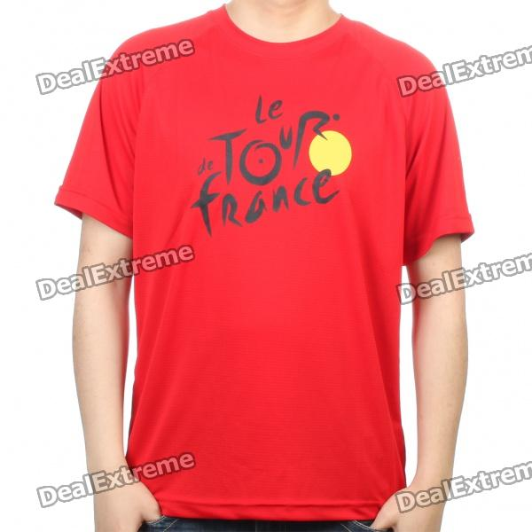 Cool Tour de France Style T-Shirt - Red (Size L) gps навигатор bushnell backtrack d tour red