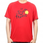 Cool Tour de France Style T-Shirt - Red (Size XXL)