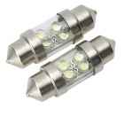 4-LED Power-Saving Vehicle Light Bulbs (12V White 2-Pack)