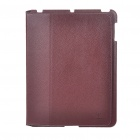 Ultrathin Protective PU Leather Case for   Ipad 2 - Brown