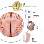 Multifunctional Electric Foot File Remover USB Rechargeable Electric Shaver Foot Device Silver