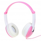 Stylish On-Ear Stereo Headset with Microphone for Iphone/PC - Pink + White (3.5mm Jack/2M-Cable)