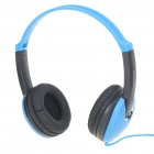 Stylish On-Ear Stereo Headset with Microphone for Iphone/PC - Blue + Black (3.5mm Jack/2M-Cable)