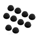 Silicone Tailcaps for Flashlights (14mm Black / 10-Pack)