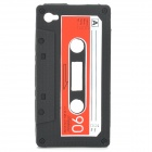 Unique Protective Retro Cassette Tape Silicon Case for Iphone 4 - Black