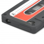 Protective Retro Cassette Tape Silicone Case for IPHONE 4 - Black