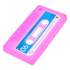 Unique Protective Retro Cassette Tape Silicone Case for Iphone 4 - Pink