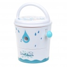 Cute Bucket Shaped Hand Cranked Rotary Pencil Sharpener - White