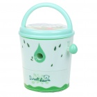 Cute Bucket Shaped Hand Cranked Rotary Pencil Sharpener - Light Green