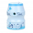 Cute Can Shaped Hand Cranked Rotary Pencil Sharpener - Light Blue