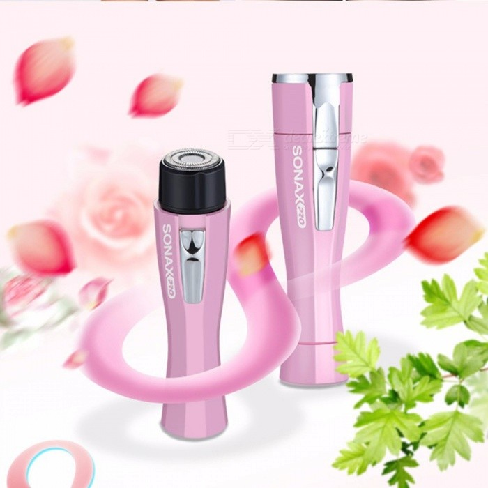 Electric Mini Epilator Female Hair Removal Armpit Arm Legs Private Parts Shaving Razor Hair Trimmer Washable Pink