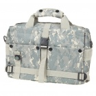 "Multi-Pocket Oxford Cloth Bag with Compass for 10"" Laptop/DSLR Camera - Digital Camouflage"