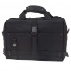 "Multi-Pocket Oxford Cloth Bag with Compass for 10"" Laptop/DSLR Camera - Black"