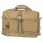 "Multi-Pocket Oxford Cloth Bag with Compass for 10"" Laptop/DSLR Camera - Khaki"