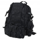 4-in-1 Travel Oxford Cloth Backpack Double-Shoulder + Waist Bags - Black