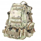 4-in-1 Travel Oxford Cloth Backpack Double-Shoulder + Waist Bags - Woodland Camouflage