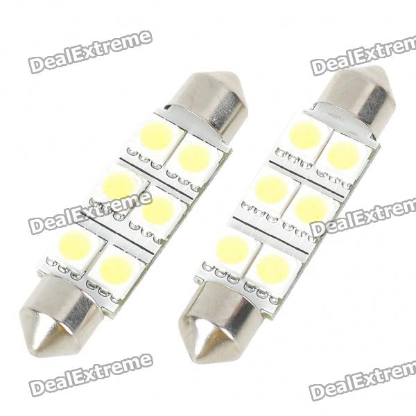 44mm 1.2W 6500K 110LM 6-SMD LED Reading Lamp/Boot Lamp White Light Bulb (DC 12~18V/Pair) набор bosch ножовка gsa 18v 32 0 601 6a8 102 адаптер gaa 18v 24
