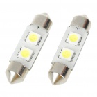 37mm 0.4W 6500K 40LM 2-SMD LED Reading Lamp/Boot Lamp White Light Bulb (DC 12~18V/Pair)