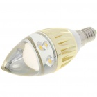 E14 3W 3200K 270LM Candle Style Warm White 3-LED Bulb (85~265V)