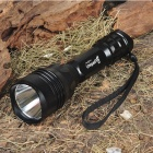 UniqueFire M9 Cree XM-L 3-Mode 750-Lumen White LED Flashlight with Strap - Black (1 x 18650)