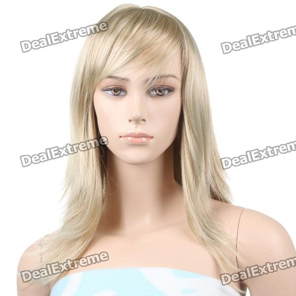 Fashion Long Light Golden Blonde Hair Wigs