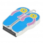 USB 2.0 Mini Slipper Style USB Flash/Jump Drive - Blue (2GB)