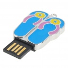 USB 2.0 Mini Slipper Style USB Flash/Jump Drive - Blue (16GB)