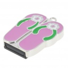 USB 2.0 Mini Slipper Style USB Flash/Jump Drive - Pink (2GB)