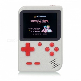 Mini Handheld Game Console, 8Bit 2.8 Inches Color LCD Game Player w/ Built-in 168 Games - White