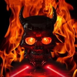 Bicycle Lights Laser Taillights Skull Safety Warning Lights Dead Fly Accessories Riding Equipment Devil Taillight Light Grey