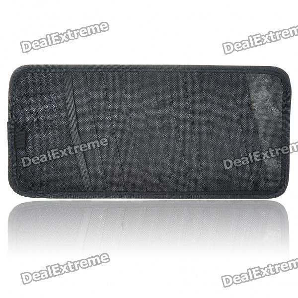 Car Sun Visor CD/DVD Holder - Black (Holds 12-Disc)