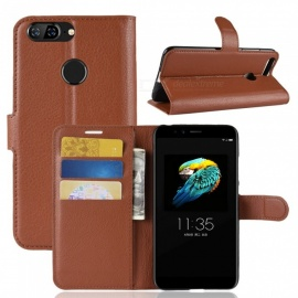 Naxtop Phone Wallet Flip Leather Holder Cover Case for Lenovo S5 - Brown