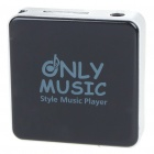 Stylish Mini USB Rechargeable MP3 Player - Black (Support 8GB TF Card)