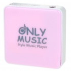 Stylish Mini USB Rechargeable MP3 Player - Pink (Support 8GB TF Card)