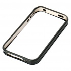 Protective Bumper Frame Case Cover + Screen Guards + Cleaning Cloth for iPhone 4 - Grey + Black