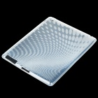 Stylish Protective TPU Rubber Gel Back Case for Ipad 2 - Elliptical Pattern