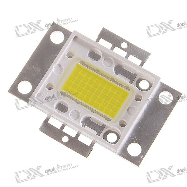 50W White LED Flat Lamp Light (18V~20V/3000~4000 Lumens/2.5A) 20v 1 2a power module 220v to 20v acdc direct switching power supply isolation can be customized