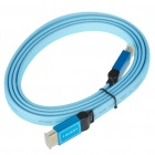 Gold Plated 1080P HDMI V1.4 Male to Male Shielded Connection Cable - Blue (1.7M-Length)