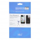 LCD Screen Protective Matte Film Set with Cleaning Cloth for Iphone 4 (2-Piece Set)