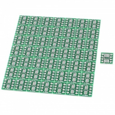 BTOOMET 50Pcs SO8 SOP8 SSOP8 TSSOP8 SMD To DIP8 Adapter 0.65/1.27mm Converter PCB Board
