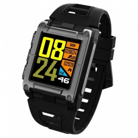 S929 GPS Swimming Sport Smart Watch IP68 Waterproof Sleep Heart Rate Monitor Thermometer Altimeter Pedometer - Black
