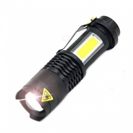 AIBBER TONE 3800LM XML-Q5+COB LED Flashlight, Portable Mini ZOOM Torch Lamp